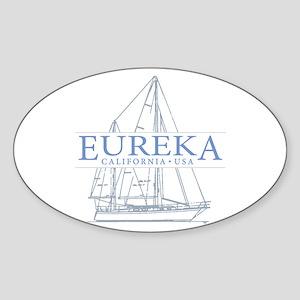 Eureka California - Sticker (Oval)