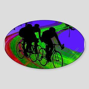 Cycling Trio on Ribbon Road Sticker