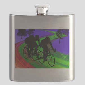 Cycling Trio on Ribbon Road Flask