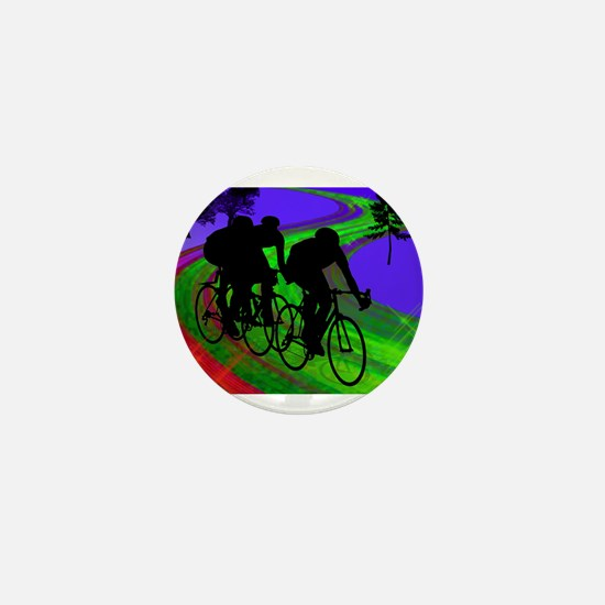 Cycling Trio on Ribbon Road.png Mini Button