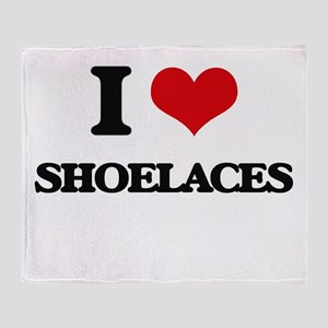 I Love Shoelaces Throw Blanket