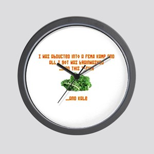 kale centered Wall Clock