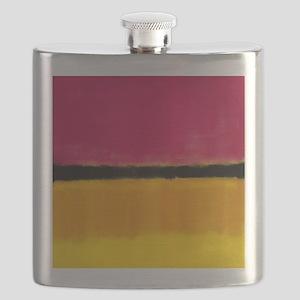 ROTHKO MAGENTA YELLOW BLACK 2 Flask