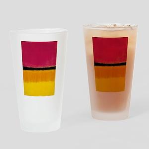 ROTHKO MAGENTA YELLOW BLACK 2 Drinking Glass