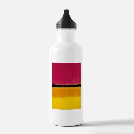 ROTHKO MAGENTA YELLOW BLACK 2 Water Bottle