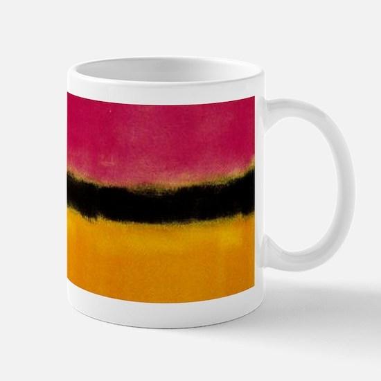 ROTHKO MAGENTA YELLOW BLACK 2 Mugs