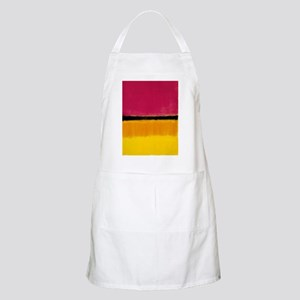 ROTHKO MAGENTA YELLOW BLACK 2 Apron