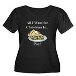 Christma Women's Plus Size Scoop Neck Dark T-Shirt