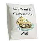 Christmas Pie Burlap Throw Pillow