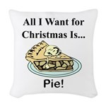 Christmas Pie Woven Throw Pillow