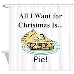 Christmas Pie Shower Curtain