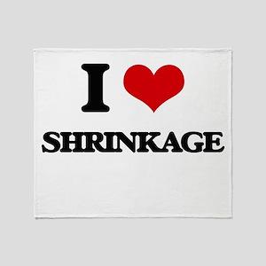 I Love Shrinkage Throw Blanket