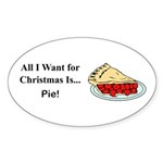 Christmas Pie Sticker (Oval 10 pk)