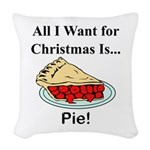 Christmas Pie Woven Throw Pillow