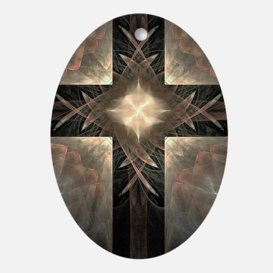 Glowing Cross Ornament (Oval)