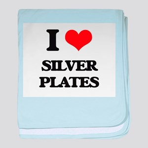 I Love Silver Plates baby blanket
