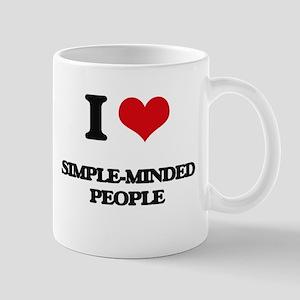 I Love Simple-Minded People Mugs