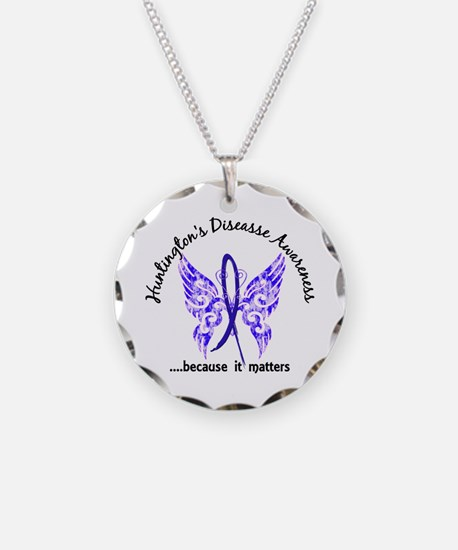 Huntington's Butterfly 6.1 Necklace Circle Charm