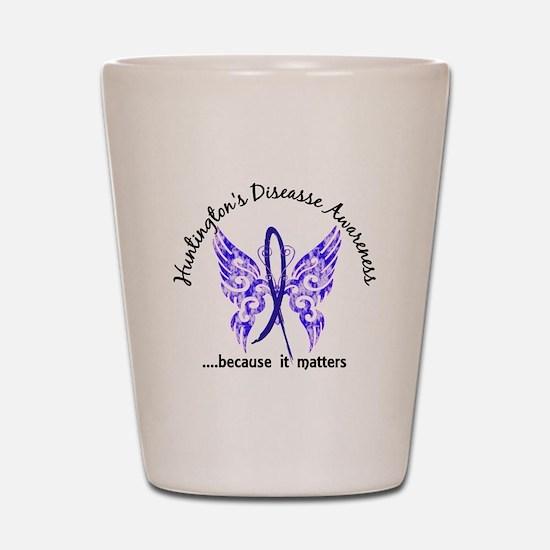 Huntington's Butterfly 6.1 Shot Glass