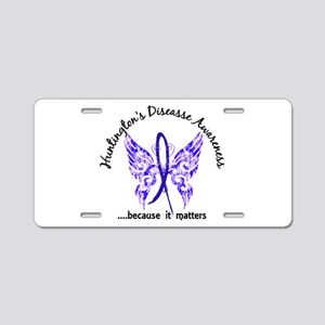 Huntington's Butterfly 6.1 Aluminum License Plate