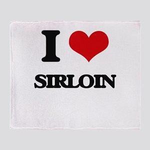 I Love Sirloin Throw Blanket