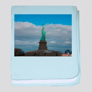 Statue of Liberty NYC baby blanket
