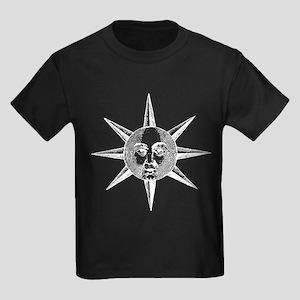 Medieval Woodcut Sun Face T-Shirt