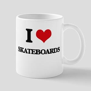 I Love Skateboards Mugs