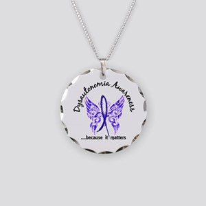 Dysautonomia Butterfly 6.1 Necklace Circle Charm