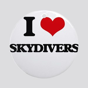 I love Skydivers Ornament (Round)