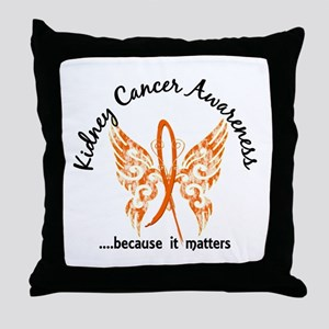 Kidney Cancer Butterfly 6.1 Throw Pillow