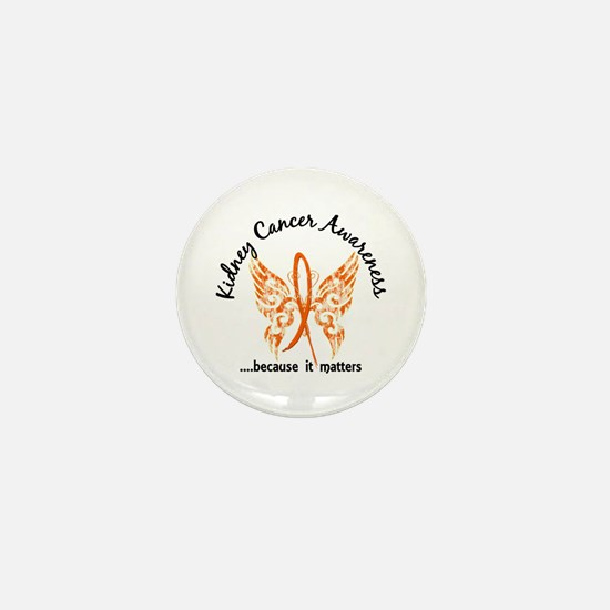 Kidney Cancer Butterfly 6.1 Mini Button