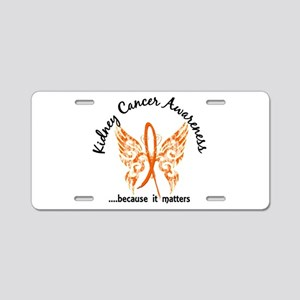 Kidney Cancer Butterfly 6.1 Aluminum License Plate