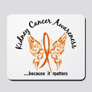 Kidney Cancer Butterfly 6.1 Mousepad