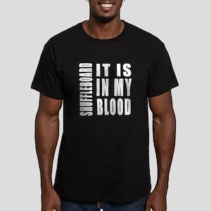 Shuffleboard it is in Men's Fitted T-Shirt (dark)