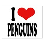 I Love Penguins Small Poster