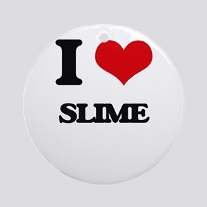 I love Slime Ornament (Round)