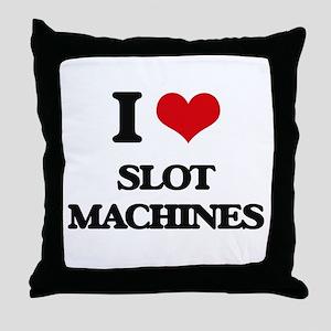 I love Slot Machines Throw Pillow