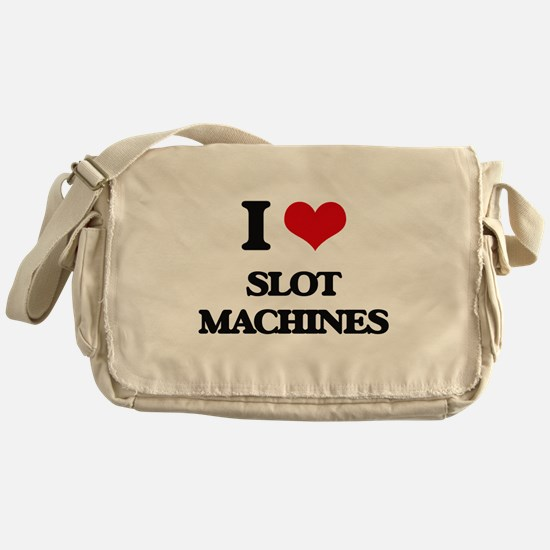 I love Slot Machines Messenger Bag