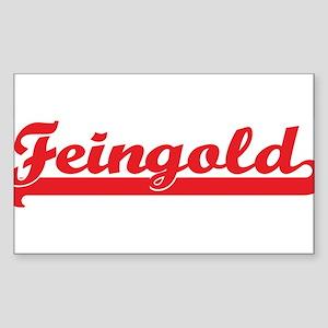 Feingold (retro-sport-red) Rectangle Sticker