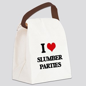I love Slumber Parties Canvas Lunch Bag