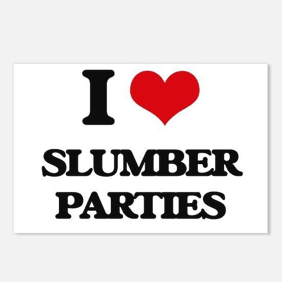 I love Slumber Parties Postcards (Package of 8)