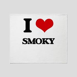 I love Smoky Throw Blanket