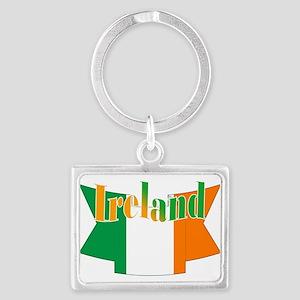Irish flag ribbon Landscape Keychain