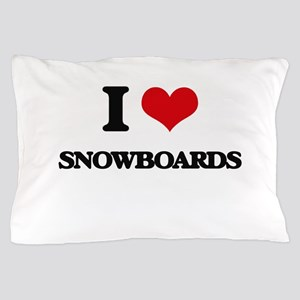 I love Snowboards Pillow Case