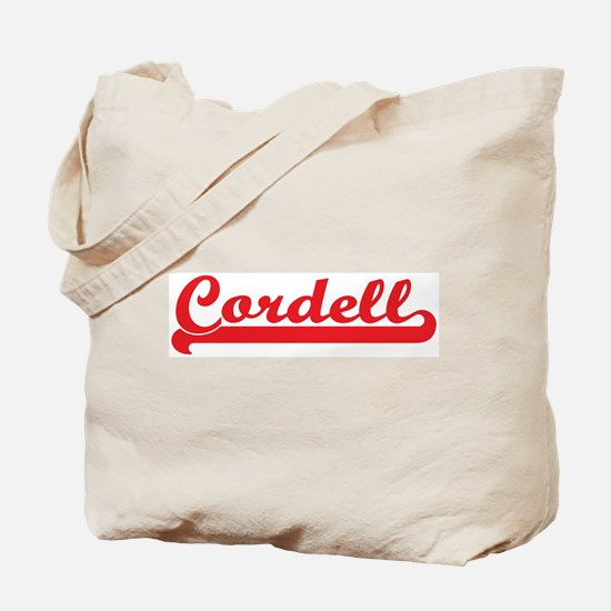 Cordell (retro-sport-red) Tote Bag