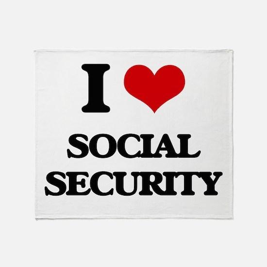 I love Social Security Throw Blanket