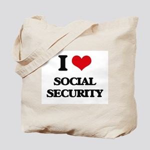 I love Social Security Tote Bag
