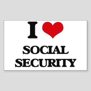 I love Social Security Sticker