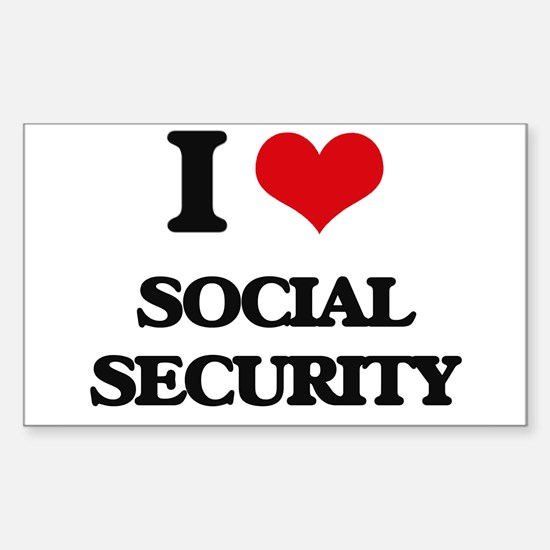 I love Social Security Decal